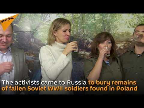 Russian Foreign Ministry Spokeswoman Zakharova Drinks Vodka With Polish Activists