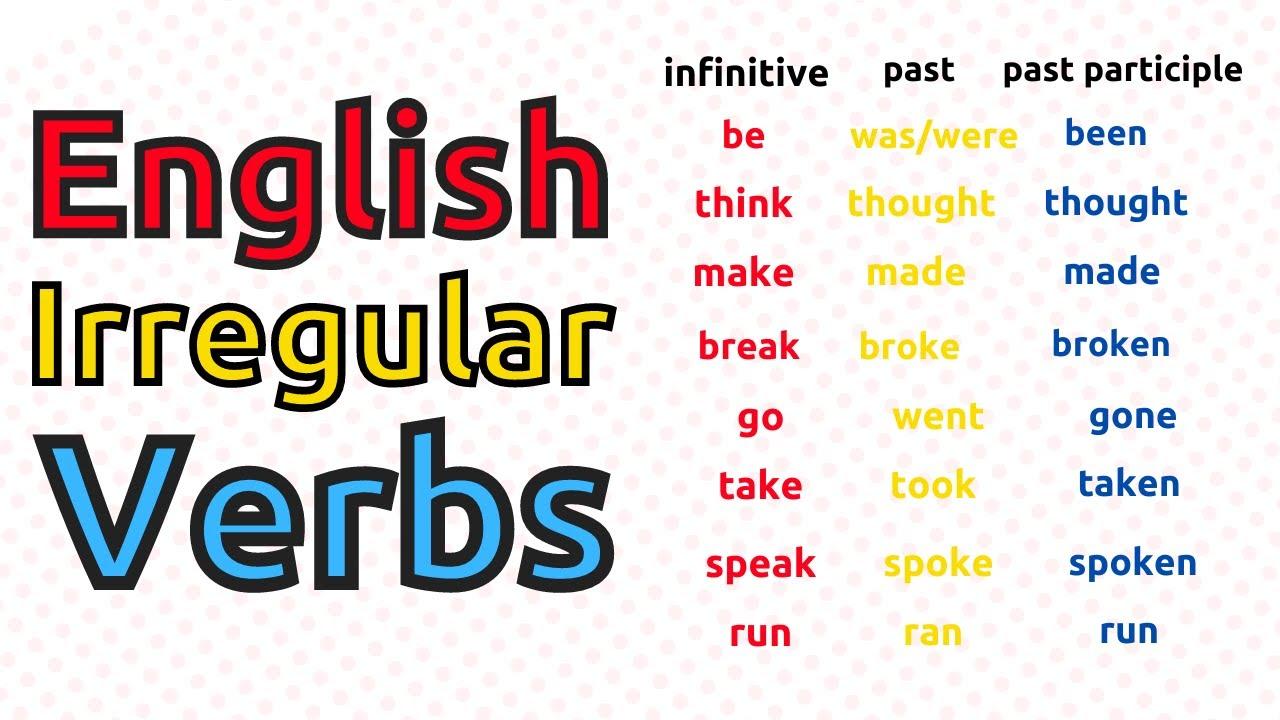 Learn English Irregular Verbs ||| 250 Most Common Irregular Verbs In ENGLISH