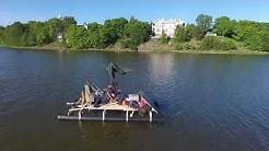 Solar-drive transportable raft