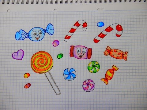 как нарисовать конфеты 151 How To Draw Candy