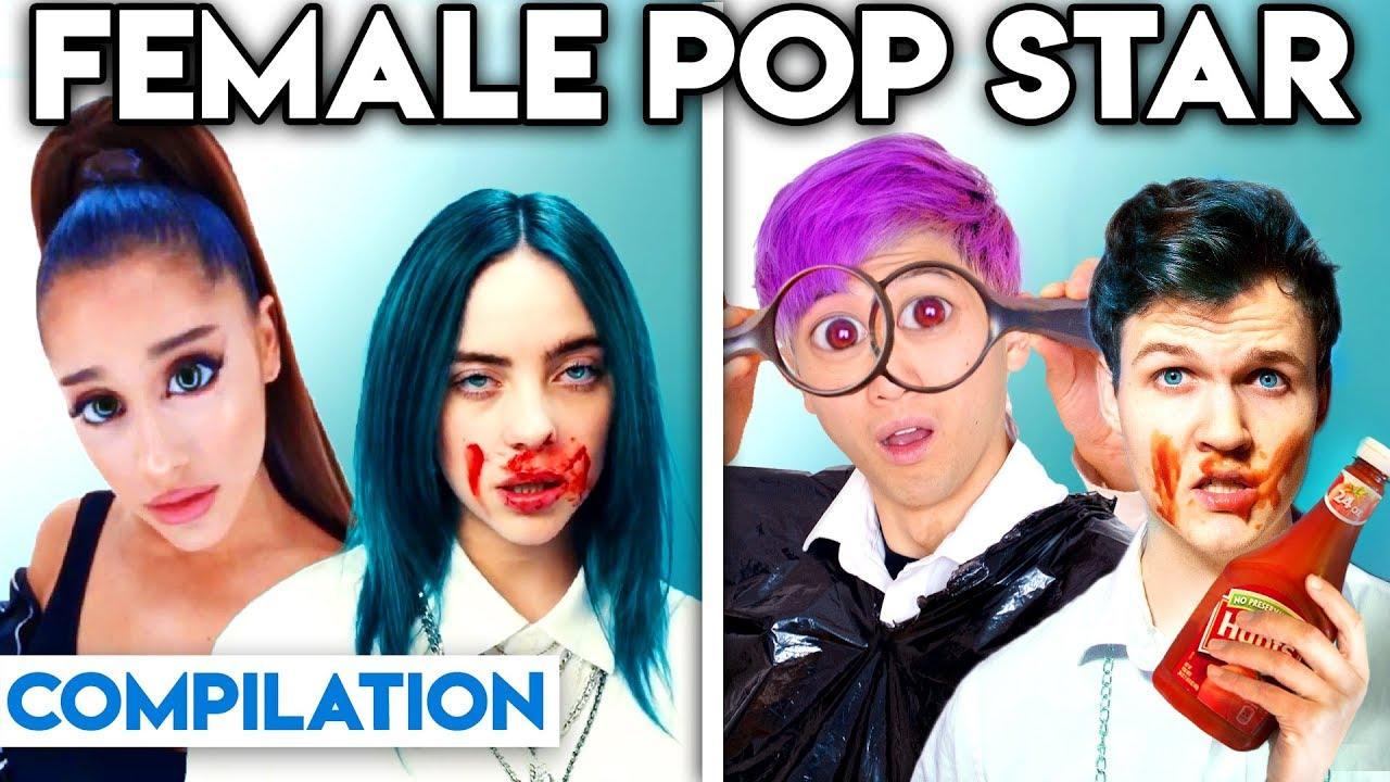 Download FEMALE POP STARS WITH ZERO BUDGET! (BEST OF ARIANA GRANDE, BILLIE EILISH, & MORE BY LANKYBOX)