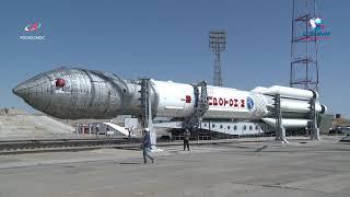 """РКН """"Протон-М"""" с КА """"Спектр-РГ"""" установлена на стартовом комплексе"""