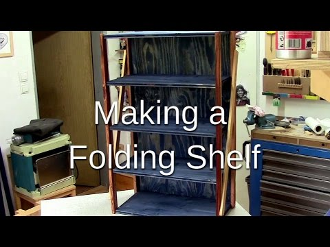 folding shelf table