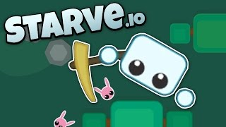 Starve.io - Crafting New Tools and Surviving the Cold and Hunger! - Let's Play Starve.io Gameplay