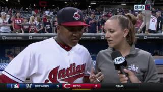 Jose Ramirez does double take, then ends interview with a surprise