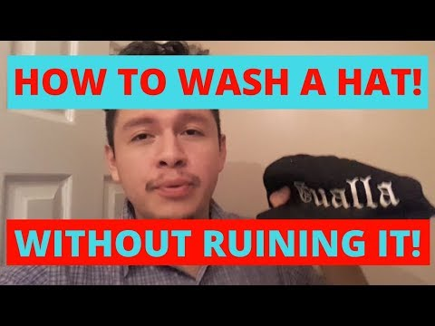 HOW TO WASH A HAT! - WITHOUT RUINING IT!