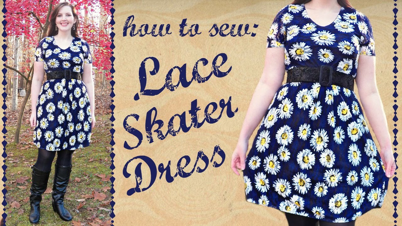 DIY Lace Skater Dress with Sleeves + Lining - How to Sew Stretch Fabric -  YouTube 02205009f