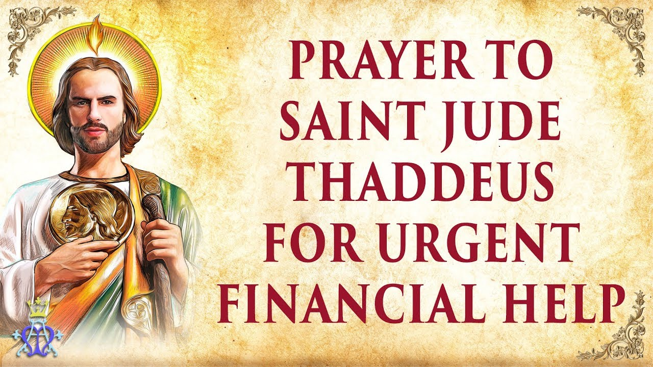 Prayer to saint jude thaddeus for urgent financial help youtube thecheapjerseys Images