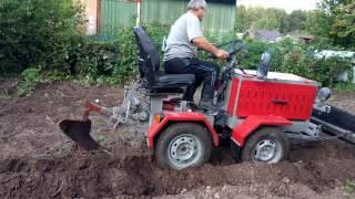 Испытание плуга часть1 самодельного трактора
