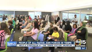 ABC15: Ahmadiyya Muslims StoptheCrISIS campaign in reaction to anti-Mosque protest