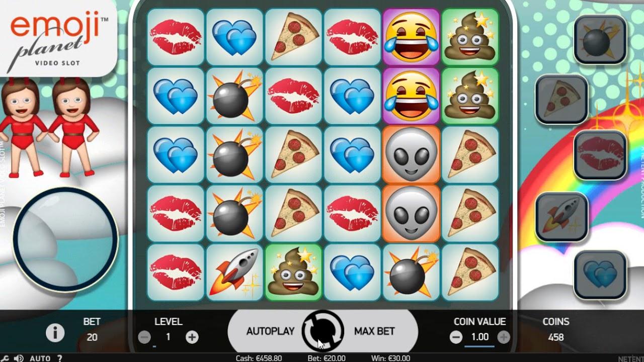 видео слот Emoji Planet Netent