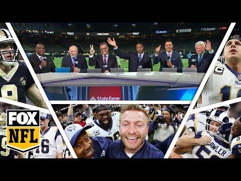 FOX NFL crew break down Rams Saints 2019 NFC Championship Game  FOX NFL