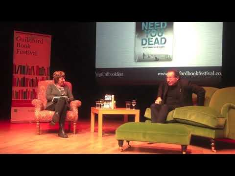 Peter James at the Guildford Book Festival 2017 in conversation with Jane Wenham-Jones.