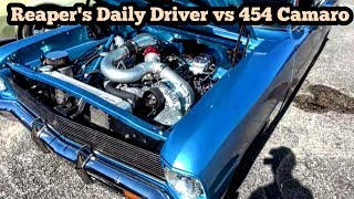 Reaper's Daily Driver vs 454 Camaro at the Out of Time No Prep Series
