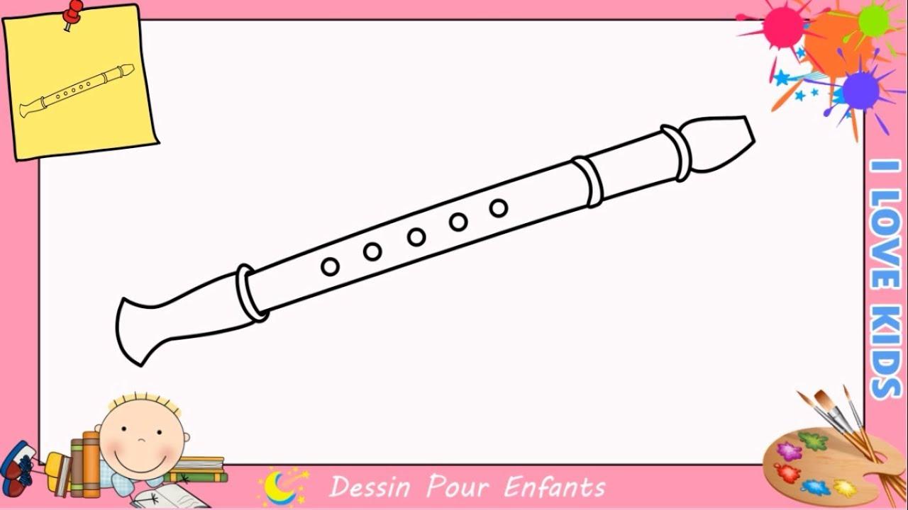Dessin flute facile comment dessiner un flute facilement - Dessin de flute ...
