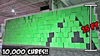 DIY GIANT INDOOR FOAM PIT FORT!! (24 HOUR OVERNIGHT CHALLENGE)