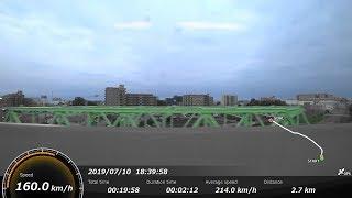 [FHD|ac]JR東日本・上越新幹線:大宮→高崎駅付近間、E4系『Maxとき号』1F-FL席/乗車走行シーン。【車窓・側面展望】