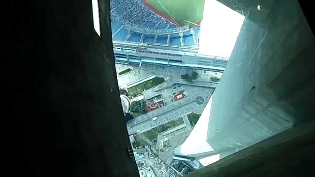 CN Tower Glass Floor View of Rogers