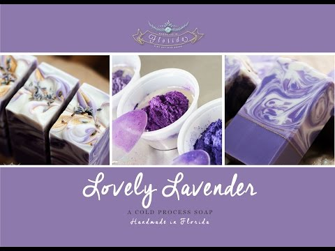 Lovely Lavender Soap Making and Cutting. A Bramble Berry Soap the Rainbow Purple Series