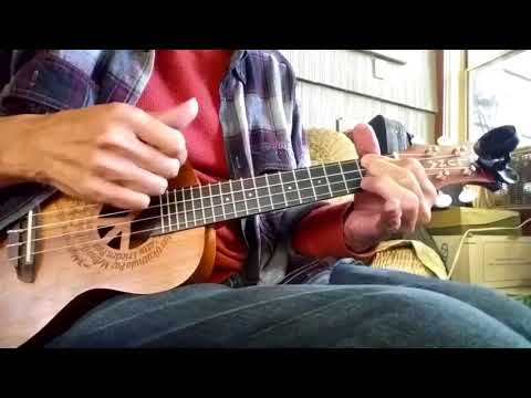 While My Guitar Gently Weeps - George Harrison's Solo Version Played On Ukulele