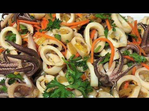 Салат из Кальмаров, вкусно и полезно!