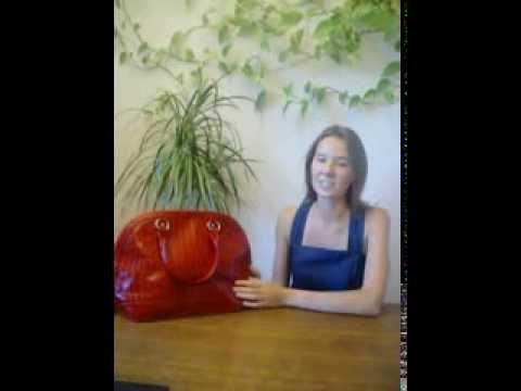 """красная женская кожаная сумка от интернет-магазина """"ЕвроЦентр24"""""""