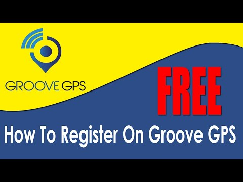 How To Register For A FREE Account With The Groove GPS Tracking System