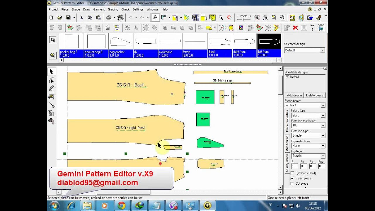 Gemini Pattern Editor V X9 Wmv Youtube
