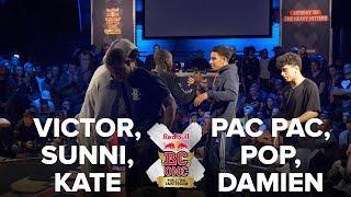 VICTOR + SUNNI + KATE vs PAC PAC + POP + KID DAMIEN / SEMI FINAL / RED BULL BC ONE 2017 3VS3