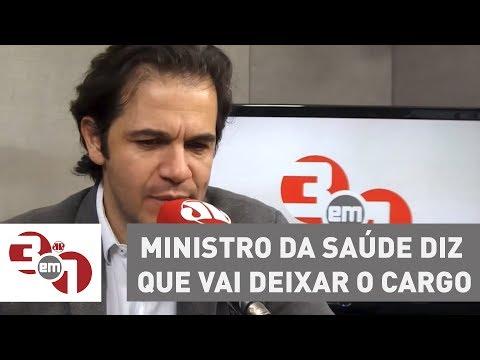 Ministro Da Saúde Diz Que Vai Deixar O Cargo Em Abril Para Disputar A Eleição