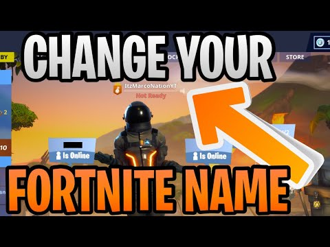 (Updated) How To Change Your Fortnite Display Name Gamertag (Chapter 2) For Free - PC/Mac/Mobile/PS4