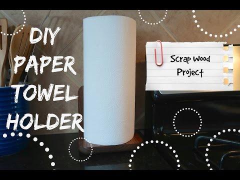 DIY PAPER TOWEL HOLDER, BUDGET HOME DECOR