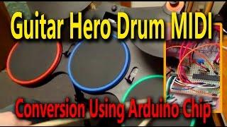 Guitar Hero Drum Midi Conversion Using Arduino Chip