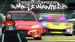 Горячие погони в Need for Speed Most Wanted 2005 + руль Fanatec CSL Elite