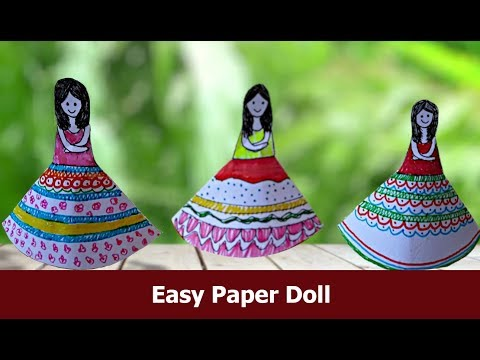 #HowtoMakePaperDoll  #handcraft  #PaperCraft  Handmade Paper Doll DIY  | Aloha Crafts