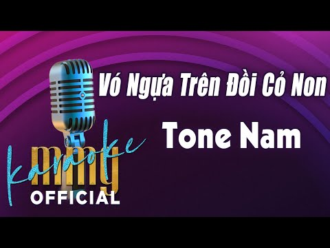 Vó Ngựa Trên Đồi Cỏ Non (Karaoke Tone Nam) | Hát với MMG Band
