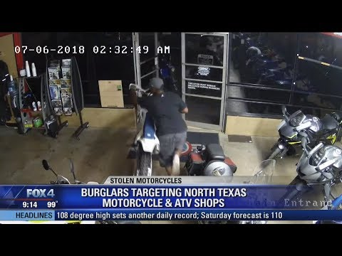 Three thieves caught on video stealing dirt bikes worth $50,000
