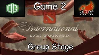 og vs tnc game 2 ti6 group stage highlights
