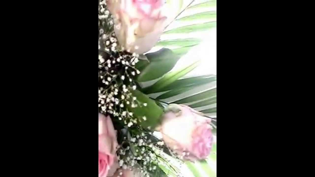 Arreglos para Difuntos Cruz de Rosas - YouTube