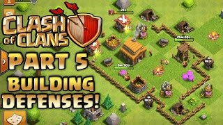 Clash of Clans Walkthrough Part 5 Building Defenses PC Gameplay Playthrough GPV247