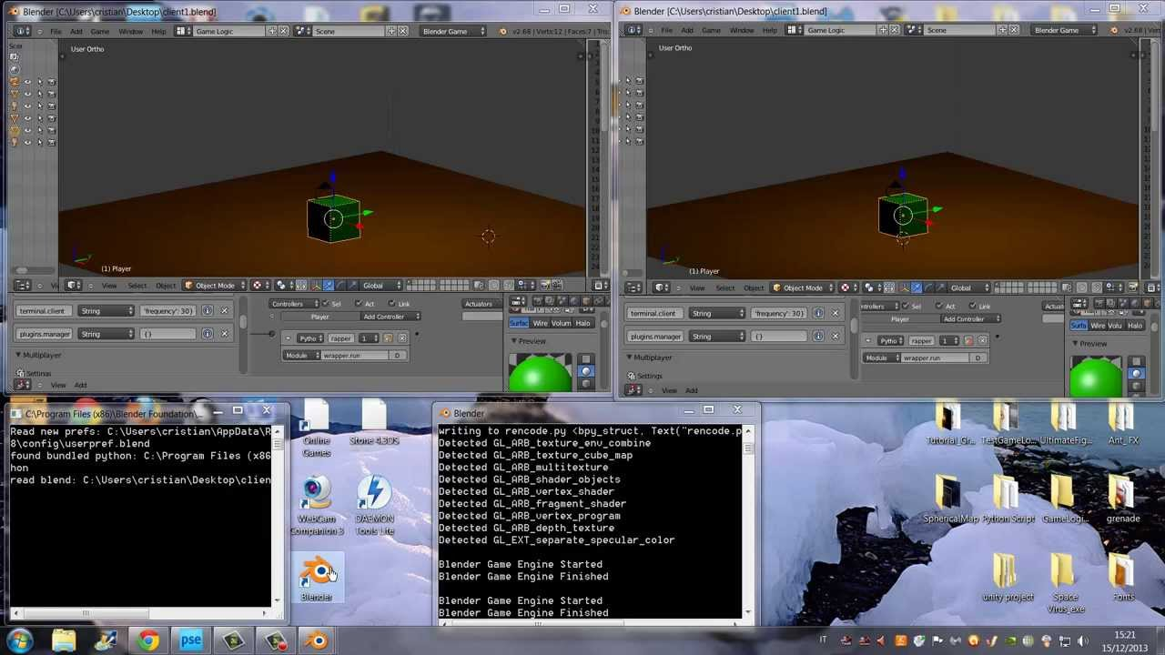 Blender Game Engine - Save As Runtime - Multiplayer Addon