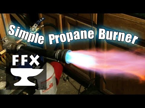 How to make a powerful propane burner for a gas forge or foundry