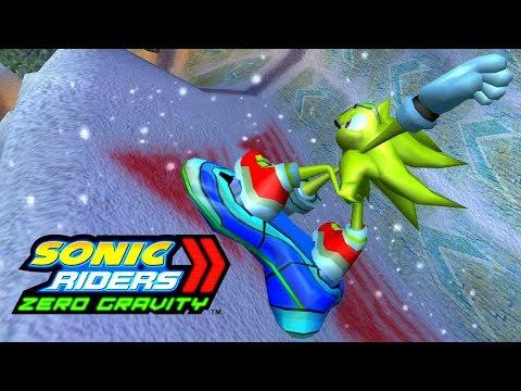 Sonic Riders Zero Gravity - Snowy Kingdom - Super Sonic 4K 60 FPS