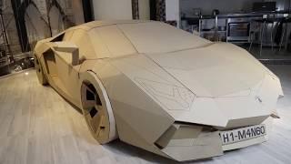 Cách làm Lamborghini bằng bìa các-tông (Giấy bìa cứng).