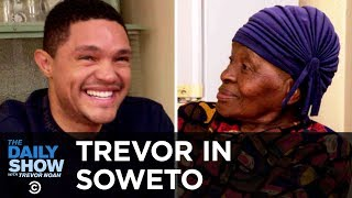 In this special Self-Deportation Edition of The Daily Show, Trevor heads back to South Africa, tours the neighborhood he grew up in, talks to his grandmother ...