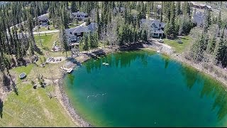 luxurious estate home backing onto pond golf course in bragg creek 12 wintergreen way