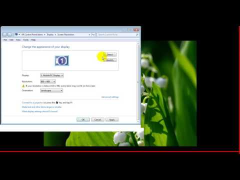Chỉnh độ phân giải laptop để kết nối máy chiếu