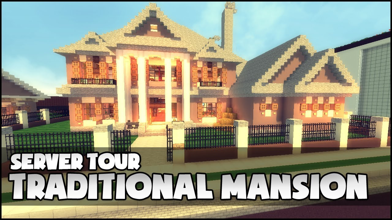 how to make a mansion in minecraft step by step
