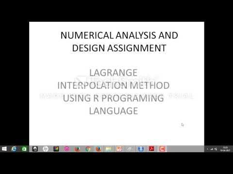 lagrange interpolation using R programming language (code)