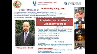 Applied aspects of plagiarism and Research Dishonesty (2nd). Prof  Ahmed Halawa, Dr  Teodora Manea